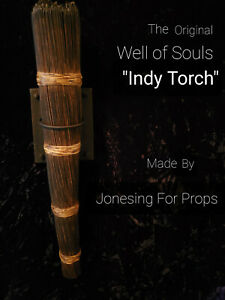 """""""Indy Torch"""" Well of Souls Raiders of the Lost Ark  Indiana Jones Torch"""