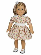 """18"""" Doll Clothing 1930's Style Cotton Dress Fits American Girl Doll Clothes"""