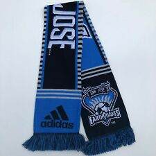 Adidas Scarf Unisex Adult One Size Blue San Jose Sharks MLS Soccer New