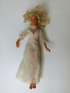 Vintage Kenner 1978 Darci Cover Girl Blonde Doll with White Dress