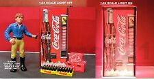 COCA-COLA PACKAGE WITH LIGHTED Vending Machines 1:24 (G) Scale miniature!