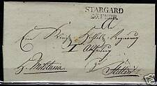 Reich 18?? folded cover STARGARD/26FEBR to Stettin  VF