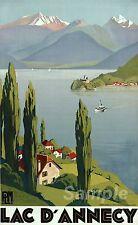 Vintage Lac Annecy Voyage A2 Poster Print