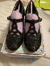 Irregular Choice Nicely Done Black Sequin Size 38 VGC