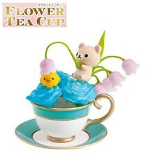RE-MENT Rilakkuma Flower Tea Cup Figure #5 Korilakkuma Lily of the Valley Roses