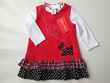 NEW Ollie's Place baby girl corduroy pinafore dress + top size 00 Fits 8kg *Gift
