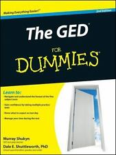 The GED for Dummies by Murray Shukyn, Consumer Dummies Staff and Dale E....