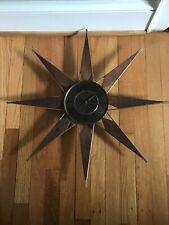 Vintage Mid Century Modern Elgin Star Sun Burst Wall Clock