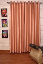 Dark Peach Faux Silk Dupioni Curtains 130 cm Wide, Chose Top, Length & Lining.