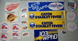 19 Hockey NHL Stickers Lot #124 Sabres Capitals Redwings Rangers Canucks see pic