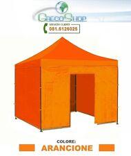Teli laterali per gazebo pieghevole impermeabile 3x3m Arancione - Mod. Loop