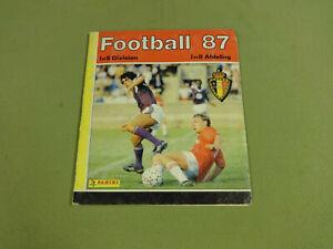 PANINI STICKER ALBUM NOT COMPLETE / FOOTBALL 1987 BELGIUM I & II DIVISION