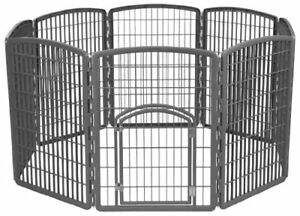"Large Indoor Outdoor Dog Pet Playpen Exercise Play Yard Cage Kennel Fence 34""H"