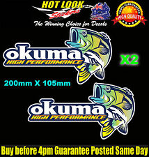 Okuma Fishing Boat Stickers Suit 4X4 Caravan Camping Tandem Trailer Fridge