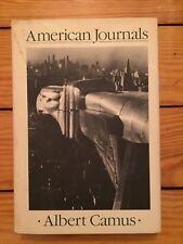 Albert Camus - American Journals 1987 Paragon 1st Eng. Translation Hardcover VG