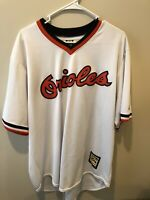 BALTIMORE ORIOLES Cooperstown retro fully sewn throwback Baseball Jersey XL