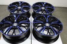 17 5x114.3 Blue Wheels Fits Prelude Mazda 3 6 RSX Camry Lancer Scion 5 Lug Rims
