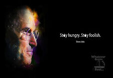Steve Jobs Poster Print Quote Famous Picture Wall Art Canvas Life Gift +