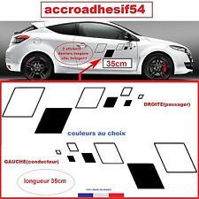 renault sport  2 stickers damier autocollant portes35cm MEGANE CLIOTWINGO