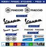 STICKERS Piaggio vespa special zip liberty medley x10 ape cross -12pezzi Cod0551