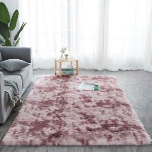 Fluffy Rug Anti-Slip/Skid Shaggy Large Bedroom Non-Shed Floor Carpet Mat