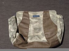 "Miche Mini Shell ""Gabby"" Camo Camoflauge Canvas Brown Faux Leather RETIRED RARE"
