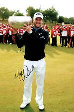 Marc WARREN 12x8 Photo Signed Autograph European Tour Golf AFTAL COA