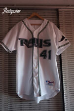 Vintage Game Used Paul Wilson 2002 Tampa Bay Devil Rays Baseball Jersey