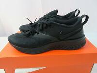 Women's Nike Odyssey React 2 Flyknit Black/Black-White AH1016-001 Size 6