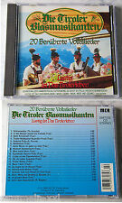 Tiroler Blasmusikanten - 20 Volkslieder .. 1989 CD TOP