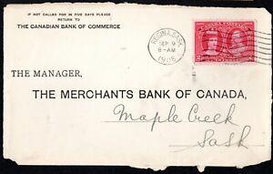 CANADA QV 1908 COVER KING EDWARD VII 2C CARMIN 300TH ANNIV. FOUNDING  OF QUEBEC