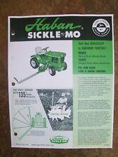 JOHN DEERE 140 Lawn/ Garden Tractor HABAN Sickle Mo Advertisement