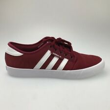 Adidas Mens Seeley Skate Shoes Red White EE6135 Lace Up Low Top Round Toe 10.5 M