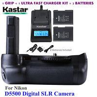 Kastar Battery Grip, EN-EL14 Battery, Charger for Nikon D5500 Digital SLR Camera