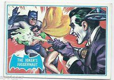 1966 Topps Batman Blue Bat with Bat Cowl Back (23B) The Joker's Juggernaut