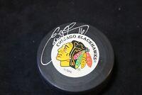Eddie Olczyk Signed Autographed Chicago Blackhawks Hockey Puck