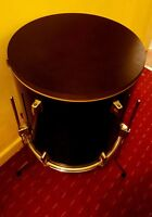Upcycled Floor Tom Drum Coffee/Side Table with storage inside #