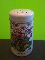 England Regency Ware Tin Metal Sugar Shaker Can Strawberry Blueberry Sucre Zucke