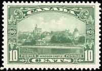 Mint H Canada 1935 F-VF Scott #215 10c Windsor Castle Silver Jubilee Stamp