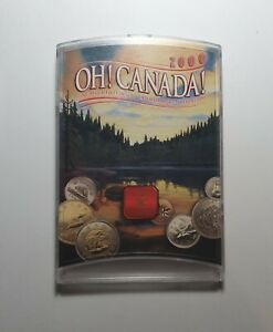 Canadian Millennial's 21st Birth Year 2000 Coin Set, Cased Unc 7 Coin Set.