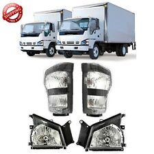 Fits 04 07 Isuzu NPR NQR 05 06 GMC W-Series Truck Headlights w/Signal Left/Right