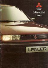 Mitsubishi Lancer Saloon & Hatchback 1990-91 UK Market Brochure GLX GTi 4WD