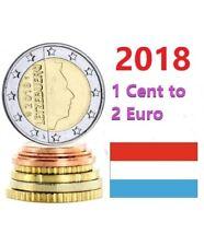 Série 1 cent à 2 euro Luxembourg 2018 - 8 pièces  Coins - UNC 50 000 coins only