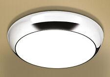HiB Kinetic LED illuminated Circular Light Chrome IP44 with Diffused Shade 0670