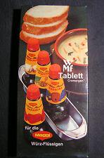 WMF bandeja para Maggi würzflüssigkeiten, Cromargan acero inoxidable, rareza, nuevo + embalaje original