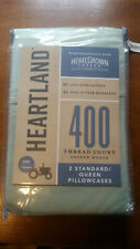 Heartland® HomeGrown™ 400-Thread-Count Solid Sateen Pillowcases (Set of 2) Mint