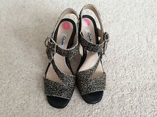 Ladies Clarks Image Dazzle Strappy Heeled Sandals - Size UK 5 - Brand New