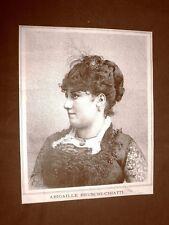 Raro ritratto del Soprano Abigaille Bruschi Chiatti del 1887 Teatro