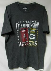 Bucs V. Packers 2020 Conference Championship Men's Size Large T-Shirt  A1 4318