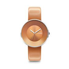 "Lambretta ""Cielo 34 Orange Analogico Cuarzo Acero Inox Naranja Cuero Mujer Reloj"
